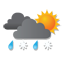 bewolkt met kans op zware natte sneeuwval